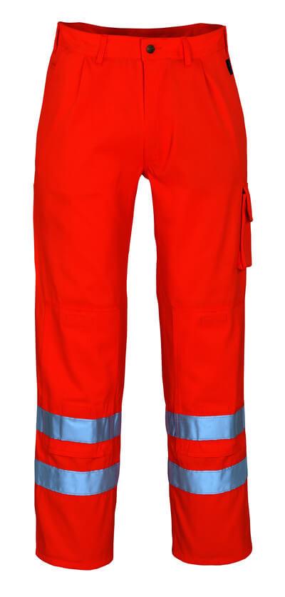 00479-860-14 Trousers with kneepad pockets - hi-vis orange