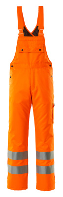 00592-880-14 Winter Bib & Brace - hi-vis orange