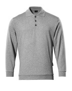 00785-280-08 Polo Sweatshirt - grey-flecked