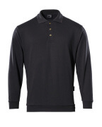 00785-280-09 Polo Sweatshirt - black