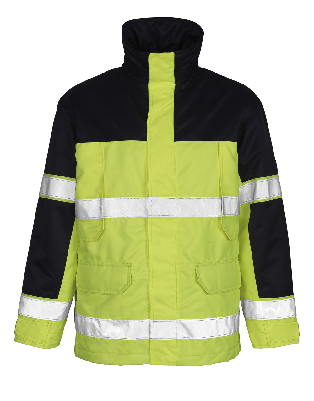00930-880-171 Parka Jacket - hi-vis yellow/navy