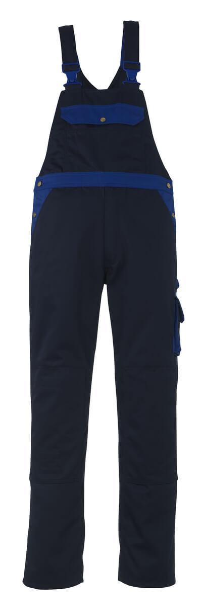 00969-430-111 Bib & Brace with kneepad pockets - navy/royal