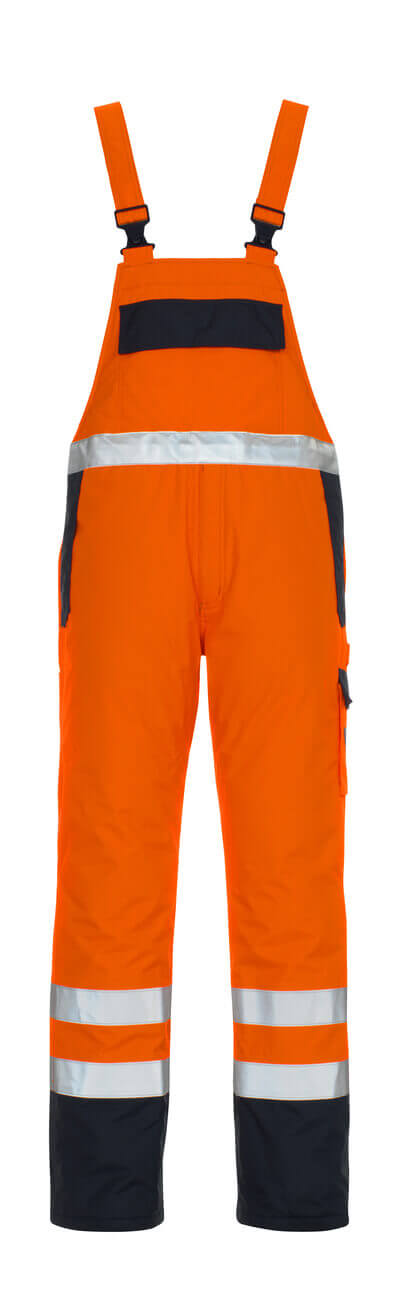 05192-064-141 Bib & Brace - hi-vis orange/navy