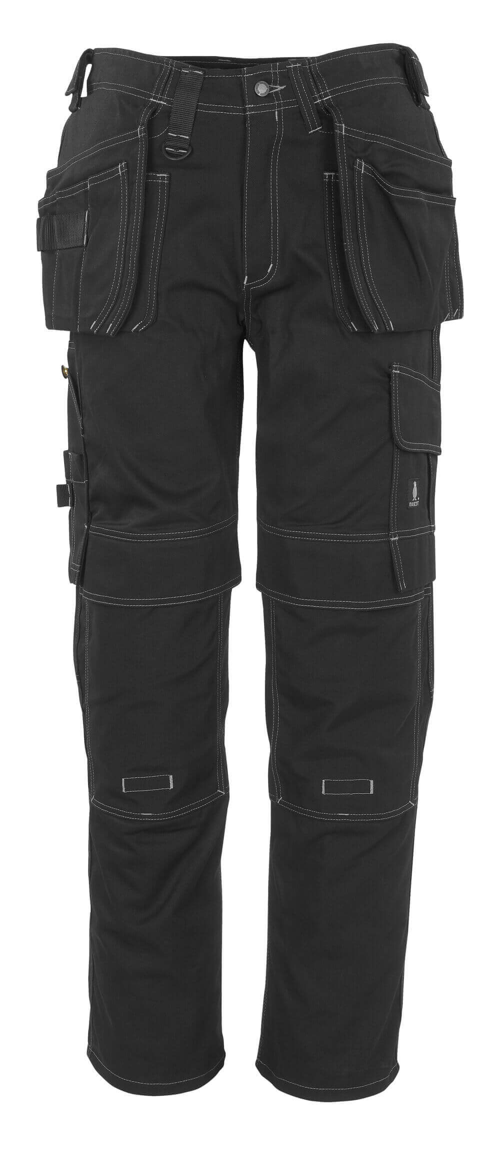 06131-630-09 Trousers with kneepad pockets and holster pockets - black