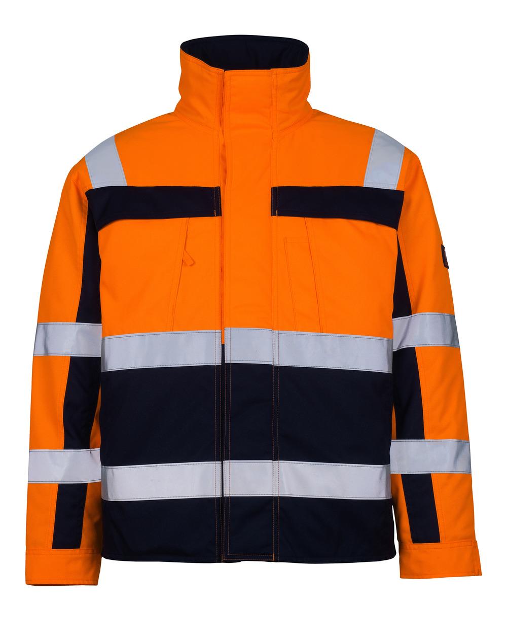 07123-126-141 Pilot Jacket - hi-vis orange/navy