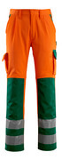 07179-860-1403 Trousers with kneepad pockets - hi-vis orange/green