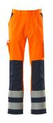 07179-860-141 Trousers with kneepad pockets - hi-vis orange/navy