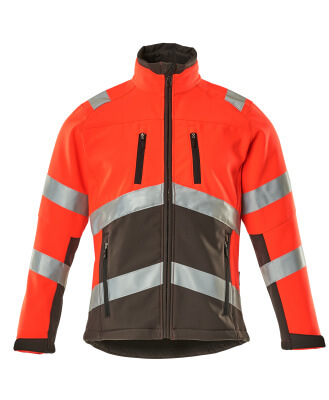09001-183-A49 Softshell Jacket - hi-vis red/dark anthracite