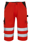 09049-860-A49 ¾ Length Trousers - hi-vis red/dark anthracite
