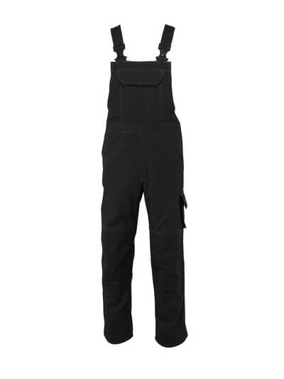 10569-442-010 Bib & Brace with kneepad pockets - dark navy