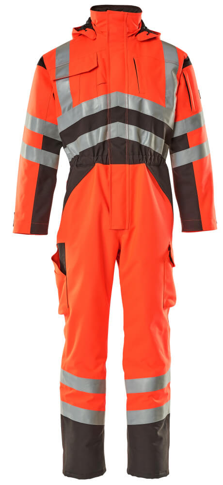 11019-025-A49 Winter Boilersuit - hi-vis red/dark anthracite