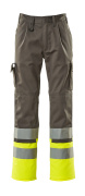 12379-430-88817 Trousers with kneepad pockets - anthracite/hi-vis yellow