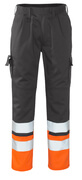 12379-430-B01 Trousers with kneepad pockets - anthracite/hi-vis orange