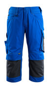 14149-442-11010 ¾ Length Trousers with kneepad pockets - royal/dark navy