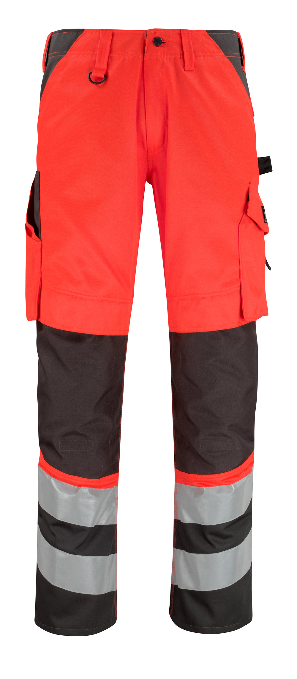 14979-860-A49 Trousers with kneepad pockets - hi-vis red/dark anthracite