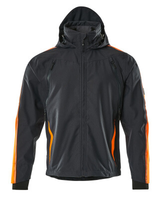 15001-222-01014 Outer Shell Jacket - dark navy/hi-vis orange