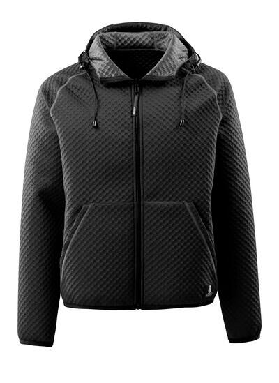 15146-267-09 Hoodie with zipper - black