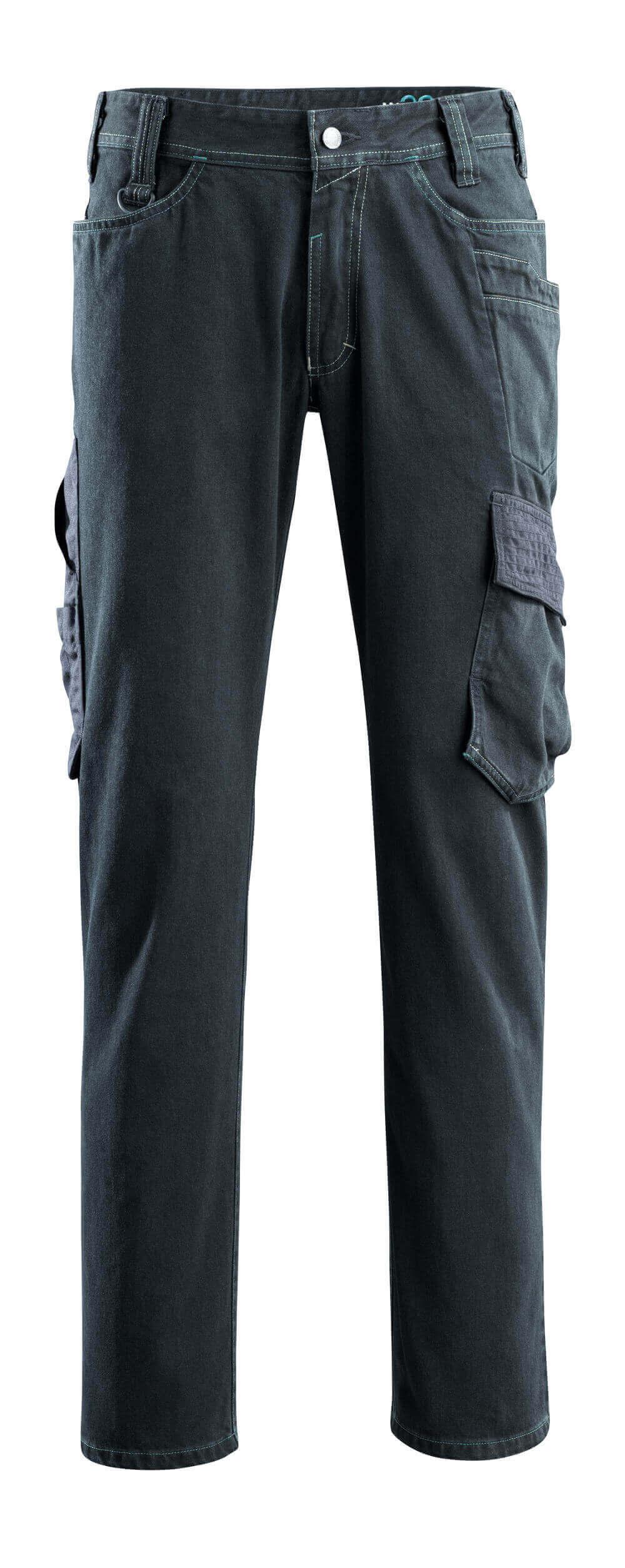 15279-207-86 Jeans with thigh pockets - dark blue denim