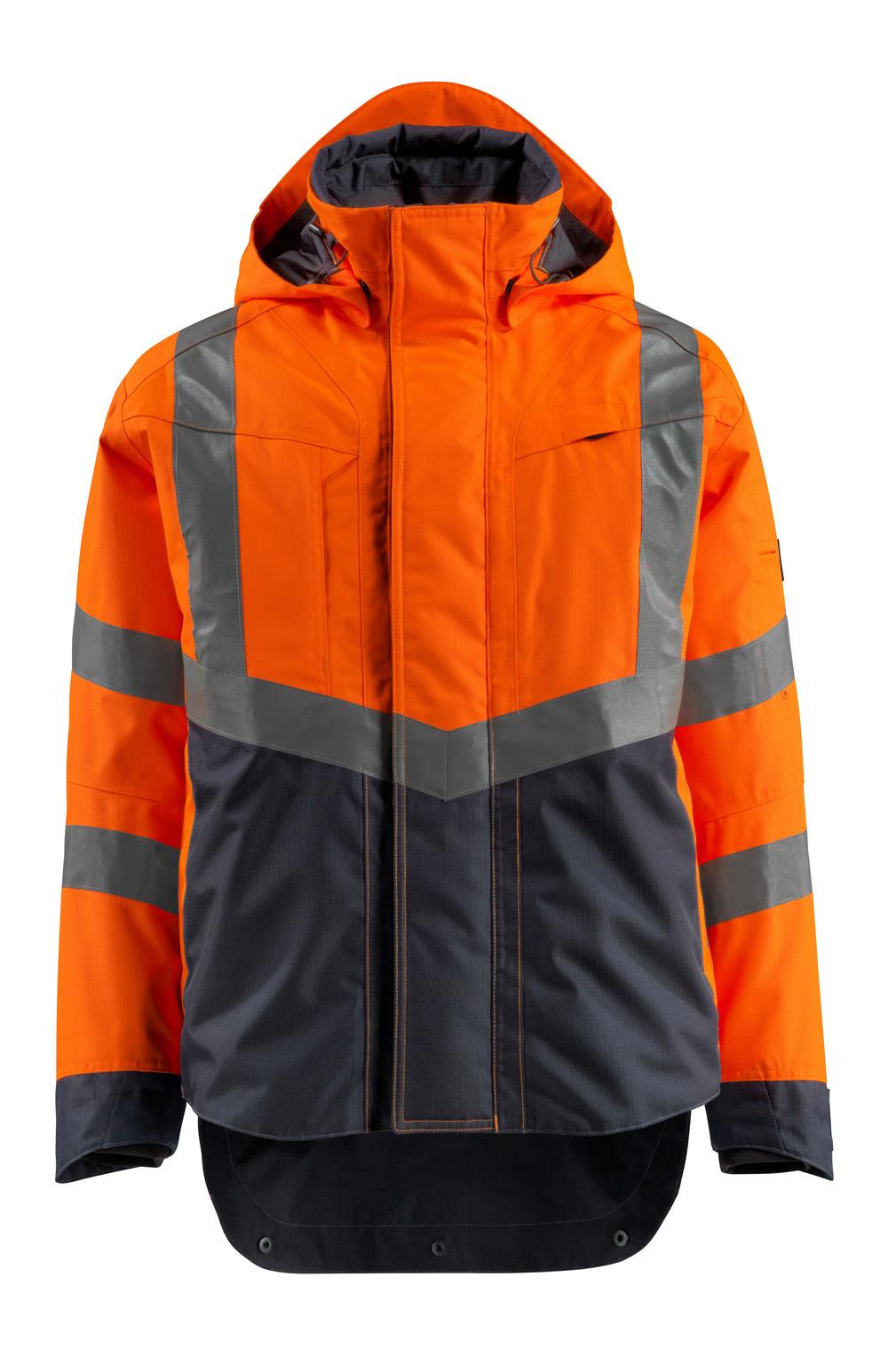15501-231-14010 Outer Shell Jacket - hi-vis orange/dark navy