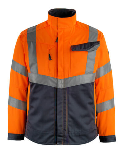 15509-860-14010 Jacket - hi-vis orange/dark navy