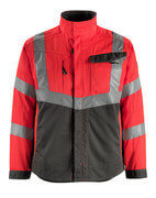 15509-860-22218 Jacket - hi-vis red/dark anthracite