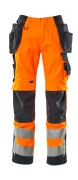 15531-860-14010 Trousers with holster pockets - hi-vis orange/dark navy