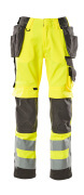 15531-860-1718 Trousers with kneepad pockets and holster pockets - hi-vis yellow/dark anthracite