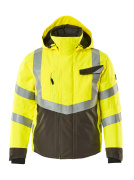 15535-231-1718 Winter Jacket - hi-vis yellow/dark anthracite