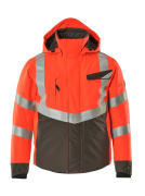 15535-231-22218 Winter Jacket - hi-vis red/dark anthracite