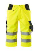 15549-860-17010 ¾ Length Trousers - hi-vis yellow/dark navy