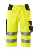 15549-860-1709 ¾ Length Trousers - hi-vis yellow/black