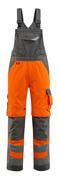 15569-860-1418 Bib & Brace with kneepad pockets - hi-vis orange/dark anthracite