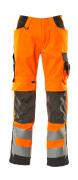 15579-860-1418 Trousers with kneepad pockets - hi-vis orange/dark anthracite
