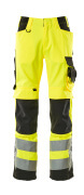 15579-860-1709 Trousers with kneepad pockets - hi-vis yellow/black