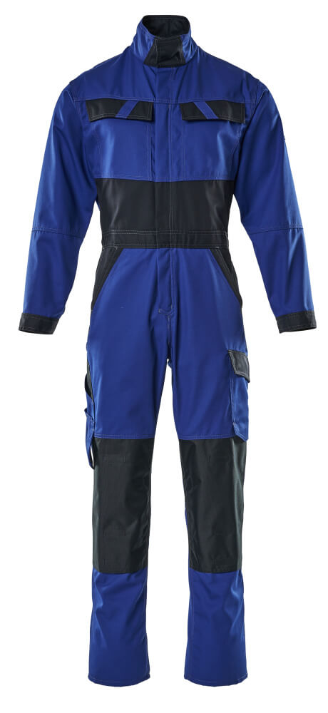 15719-330-11010 Boilersuit with kneepad pockets - royal/dark navy