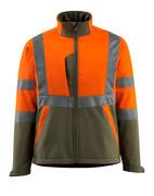 15902-253-1433 Softshell Jacket - hi-vis orange/moss green