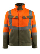 15909-948-1433 Jacket - hi-vis orange/moss green