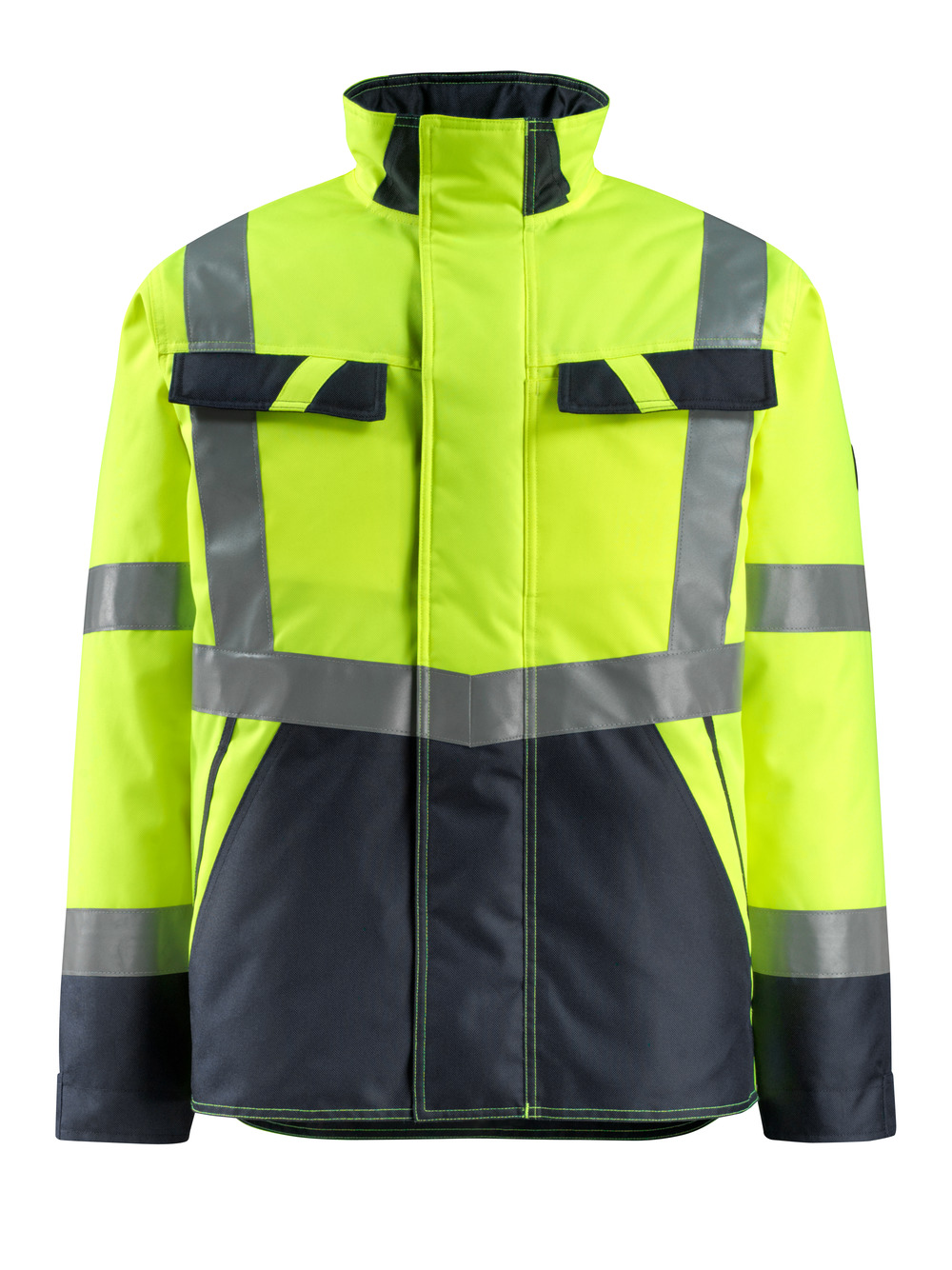 15935-126-17010 Winter Jacket - hi-vis yellow/dark navy