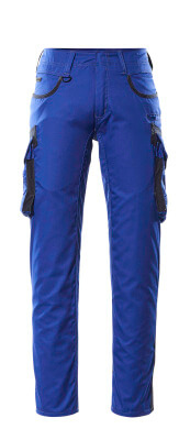 16279-230-11010 Trousers with thigh pockets - royal/dark navy