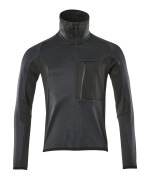 17003-316-01009 Fleece Jumper with half zip - dark navy/black