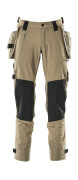 17031-311-55 Trousers with kneepad pockets and holster pockets - light khaki