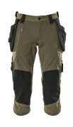 17049-311-09 ¾ Length Trousers with kneepad pockets and holster pockets - black