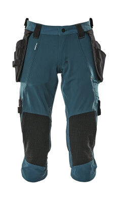 17049-311-010 ¾ Length Trousers with kneepad pockets and holster pockets - dark navy