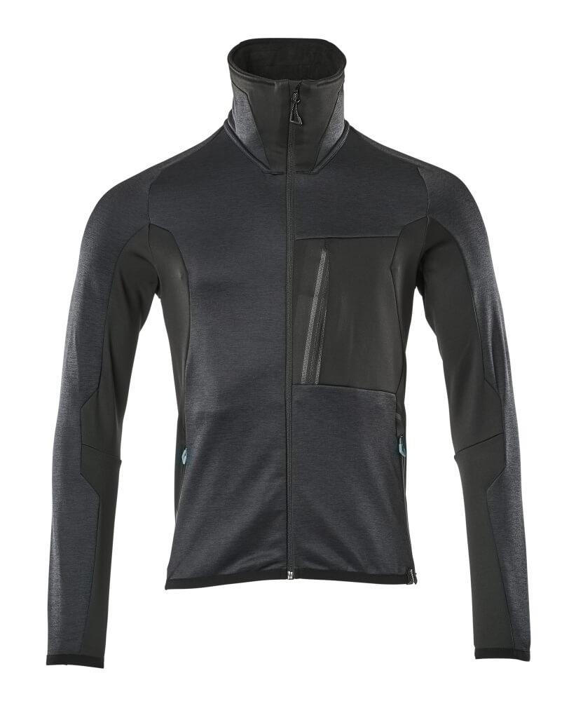 17103-316-01009 Fleece Jumper with zipper - dark navy/black
