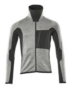 17103-316-0809 Fleece Jumper with zipper - grey toned/black