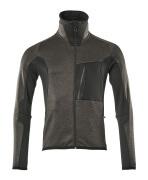 17103-316-1809 Fleece Jumper with zipper - dark anthracite/black