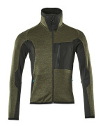 17103-316-3309 Fleece Jumper with zipper - moss green/black