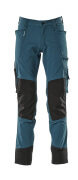 17179-311-44 Trousers with kneepad pockets - dark petroleum
