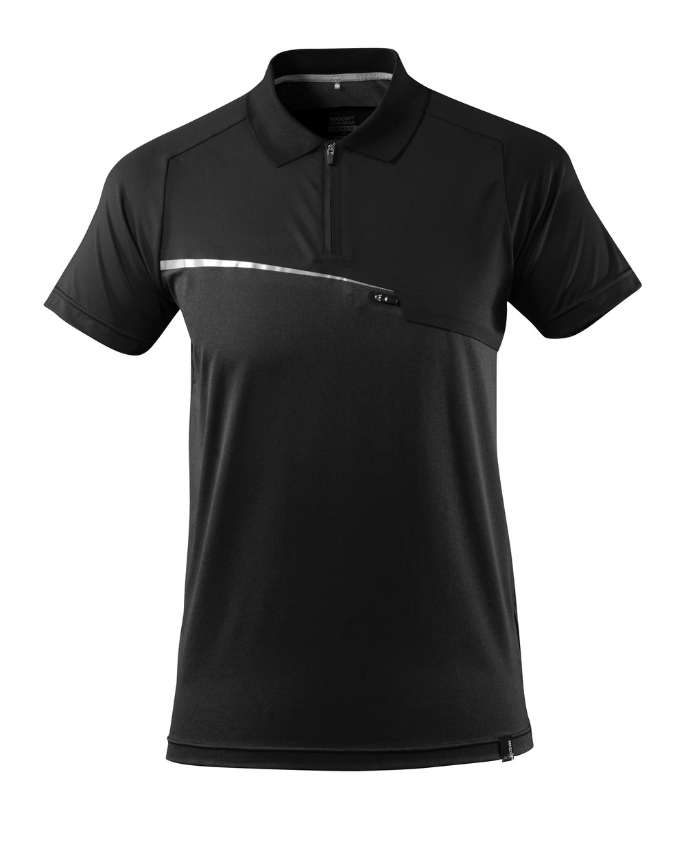 17283-945-09 Polo Shirt with chest pocket - black