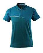 17283-945-44 Polo Shirt with chest pocket - dark petroleum